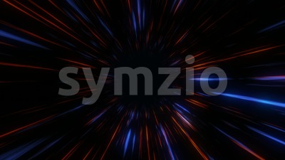 Abstract Scifi Hyperspace Black Hole Seamless Loop Stock Video