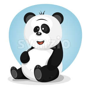 Cartoon Cute Panda Character Stock Vector