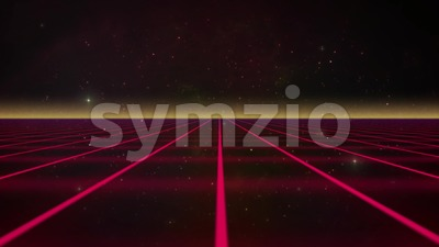 Eighties VHS Textured TV Retro Synthwave 3d Grid Background Loop Stock Video