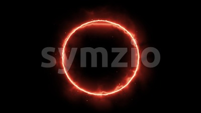 Abstract Energy Circle Background Loop Stock Video