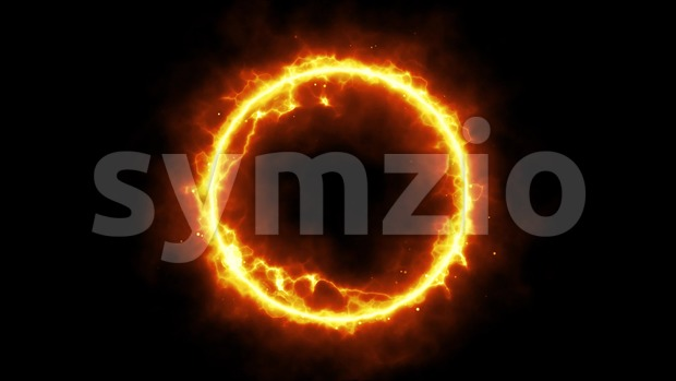 4k animation of an abstract background with power laser energy circle shining and seamless looping