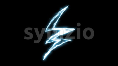 Electric Lightning Stroke Fx Stock Video