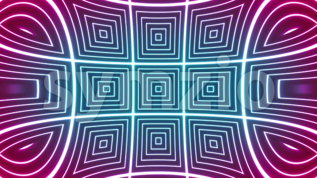 4k animation of an abstract background with glowing tiles seamless looping