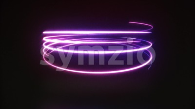 Abstract Neon Light Streaks Animation Loop Stock Video
