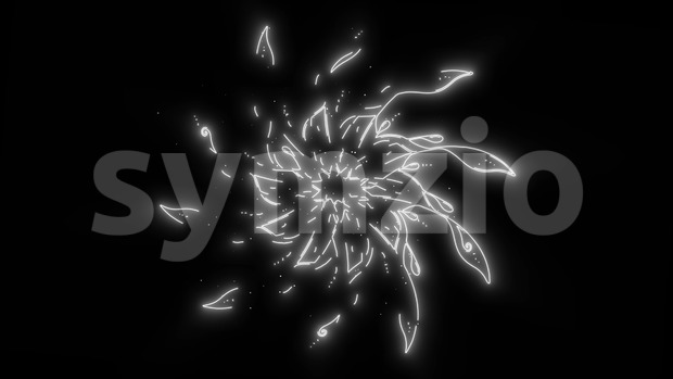 4k animation of an abstract background with black and white mandala strokes seamless looping