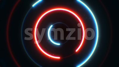 Abstract Neon Circles Background Animation Loop Stock Video