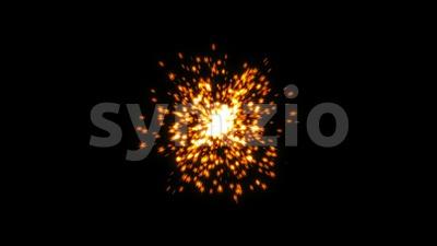 Magic Stars Explosion Fireworks Intro Stock Video