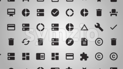 Social Media And Technology Icons Background Loop Stock Video