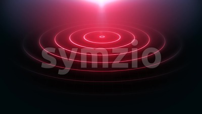 Abstract Neon Light Circles Animation Loop Stock Video