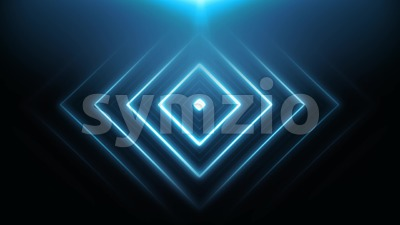 Abstract Neon Light Shapes Animation Loop Stock Video