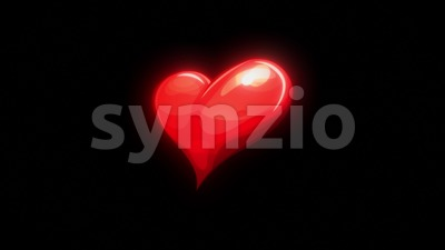 Cartoon Heart Beat Pulsation Background Loop Stock Video